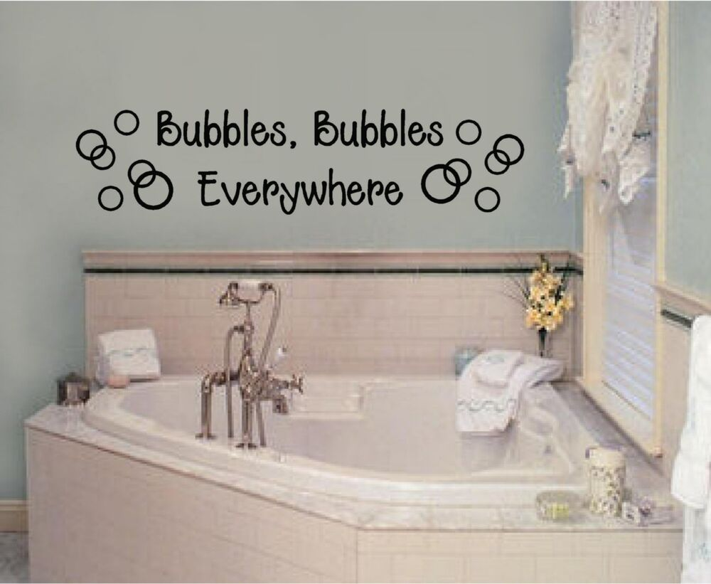 Bubbles Everywhere Vinyl Decal Sticker Wall Lettering