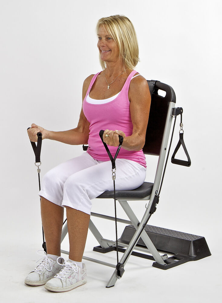 Resistance chair exercise system movie search engine at for Chair exercises