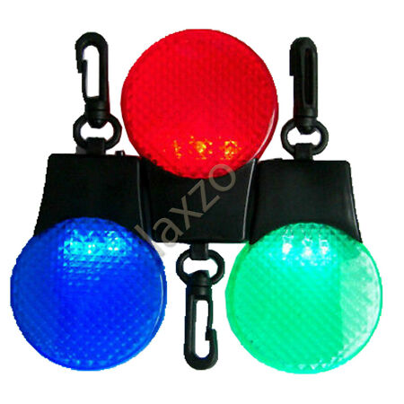 img-Cycling Bicycle Bike 3 LED Head Rear Safety Light Tail Clip Lamp Battery Include