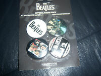 THE BEATLES LET IT BE -  ABBEY ROAD BADGES, PINS,  x 4 BRAND NEW APPLE CORPS FAB
