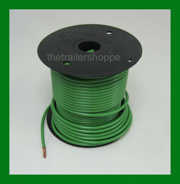 trailer light cable wiring harness 14 100 wire roll green cer trailer ebay