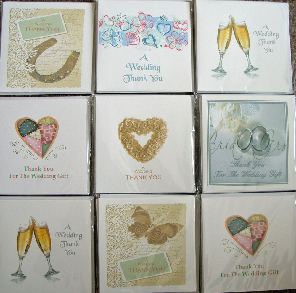 Wedding Gift Thank You Cards: Wedding Gift Thank You Cards Multi Packs, Various Designs
