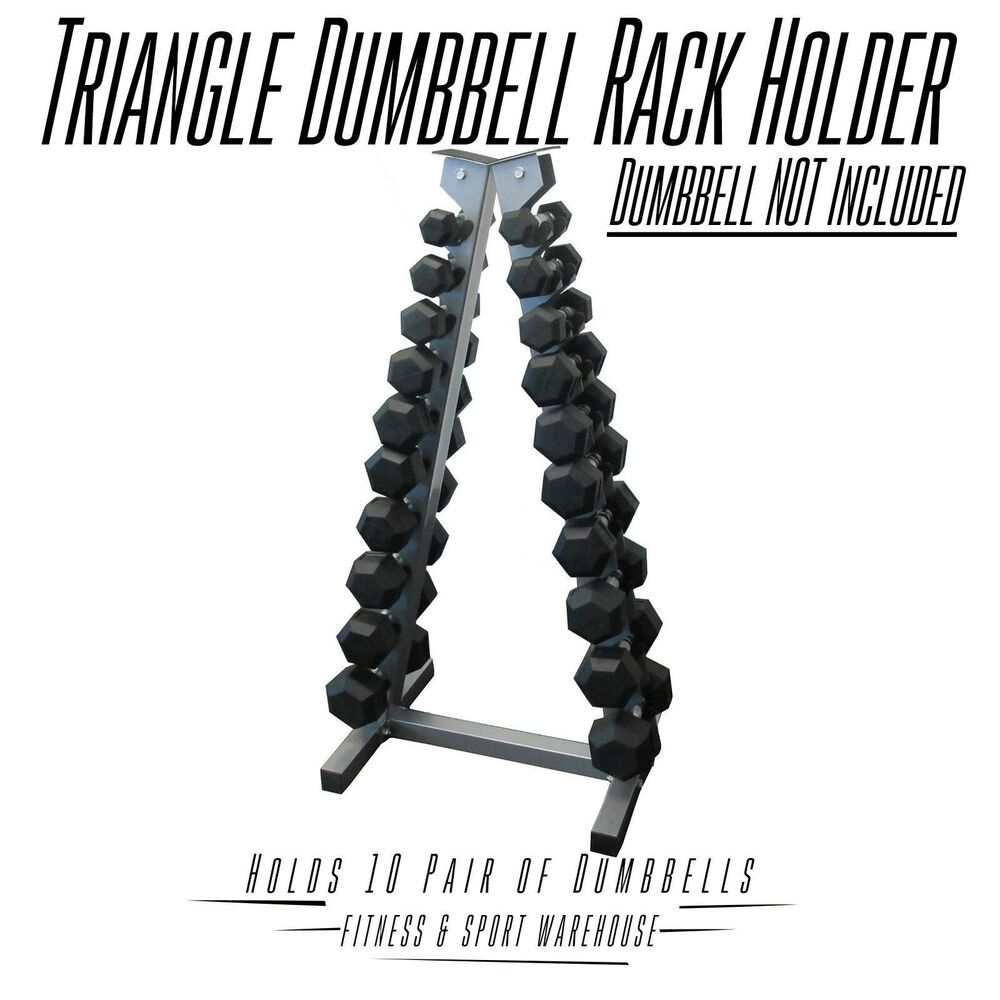 Triangle Dumbbell Rack Holder 10 Pair Dumbell Storage