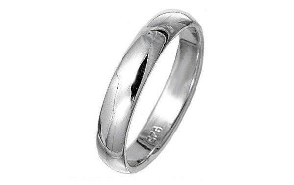 solid sterling silver 4mm wedding band ring thumb