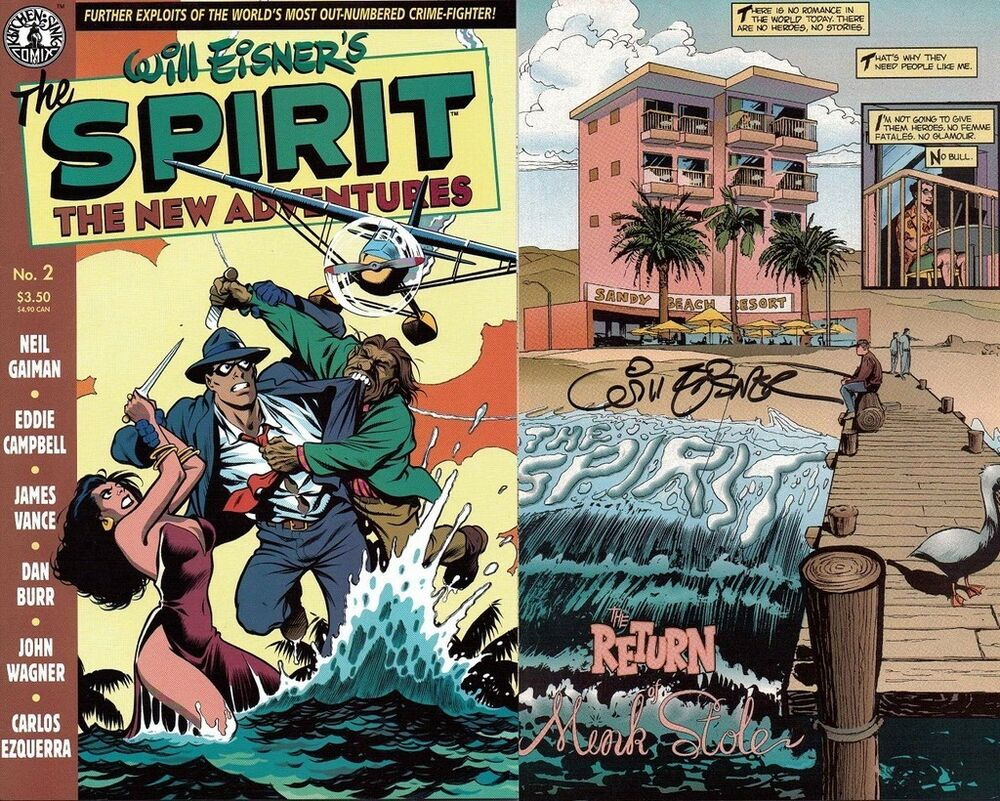 kitchen sink comics signed will eisner 1st print the spirit new adventures 2 2631