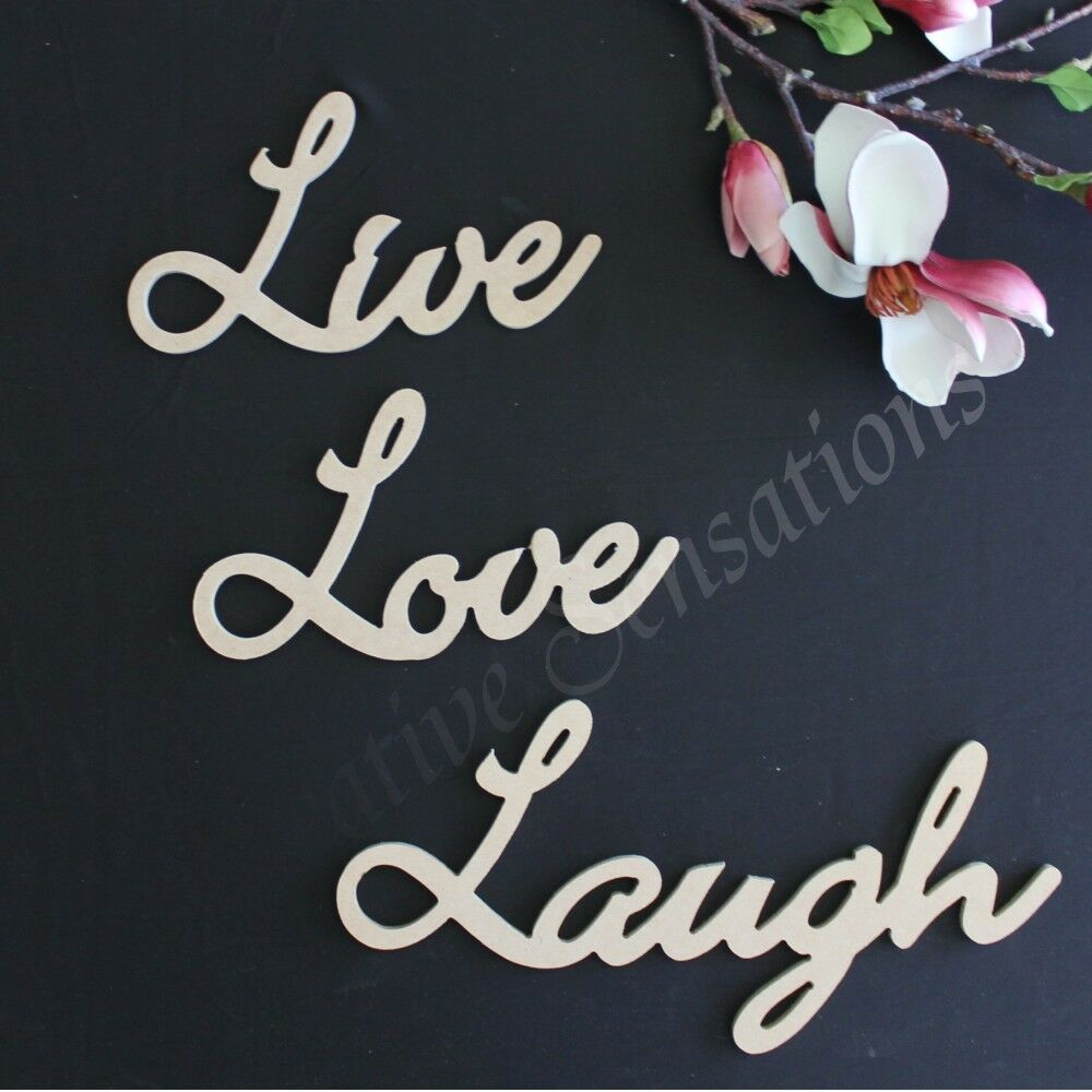 Large wooden words live love laugh wall home decor wedding for Home decorations on ebay