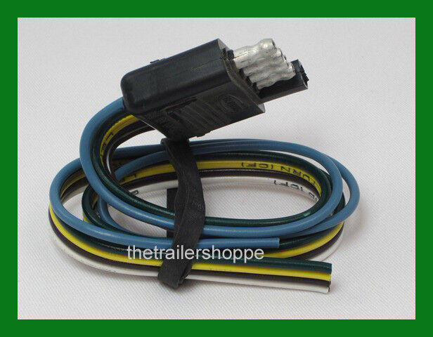 Trailer End Light Wiring Harness Bonded Flat 5 Way Pole