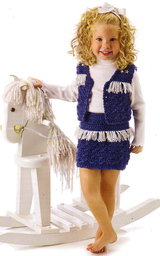 Free Crochet Patterns For Baby Owl Hat : CUTE Little Cowgirl Outfit/ Baby/Kids/Crochet Pattern ...