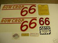 Oliver 66 Row Crop Tractor Decal Set - Red Numbers NEW - FREE SHIPPING