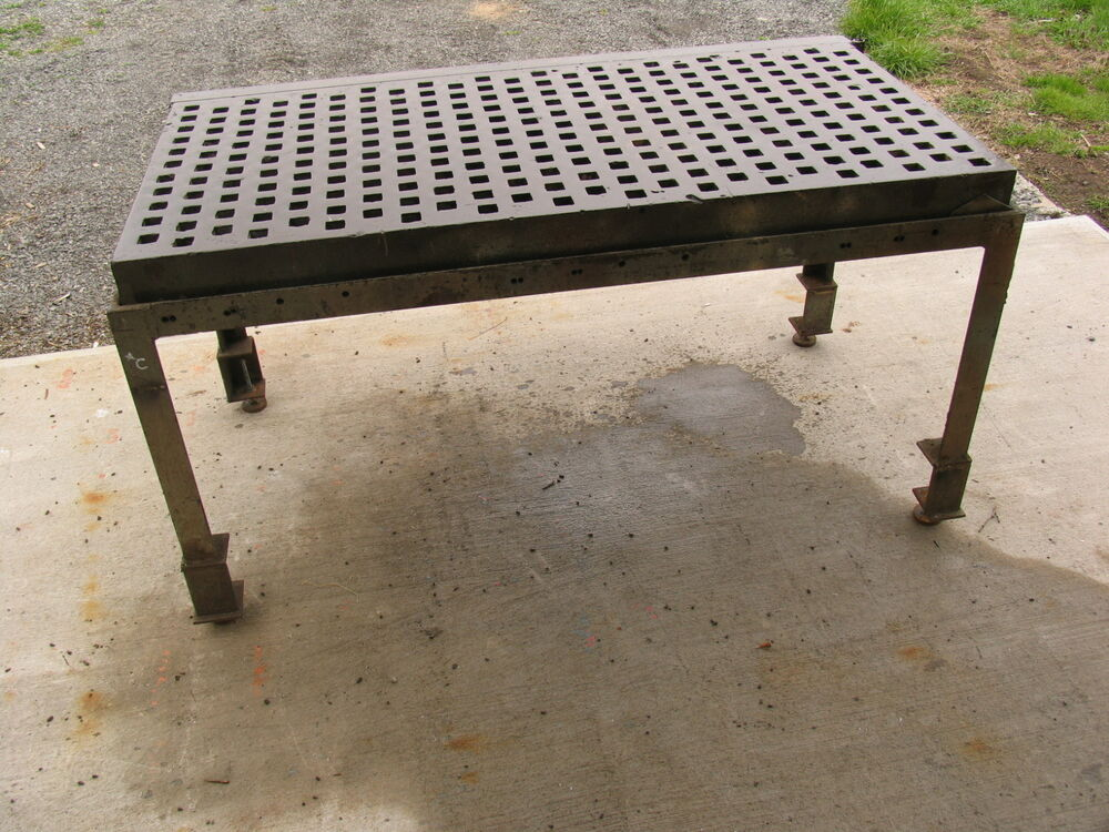 awesome garage sale ideas - 3 X 6 ACORN Type Welding Platen Layout Table with Stand
