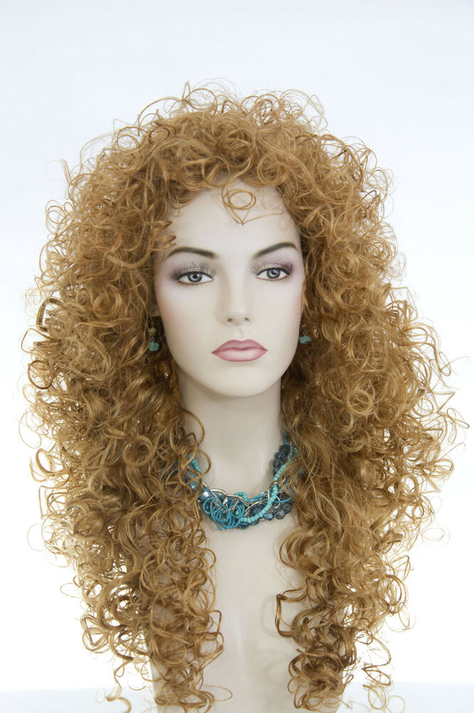 Strawberry Blonde Red Long Curly Wigs Ebay