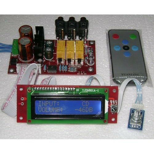PGA2311 Volume Remote Control LCD Pre-Amplifier Kit DIY | eBay