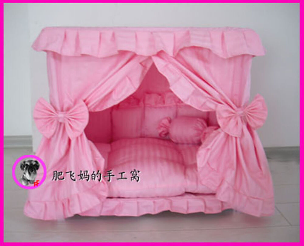 Princess Pet Dog Cat Handmade Bed House Pink Color Size