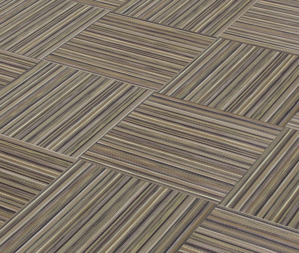 Chilewich Small Stripe Tobacco Woven Vinyl Tiles 18 Quot X 18