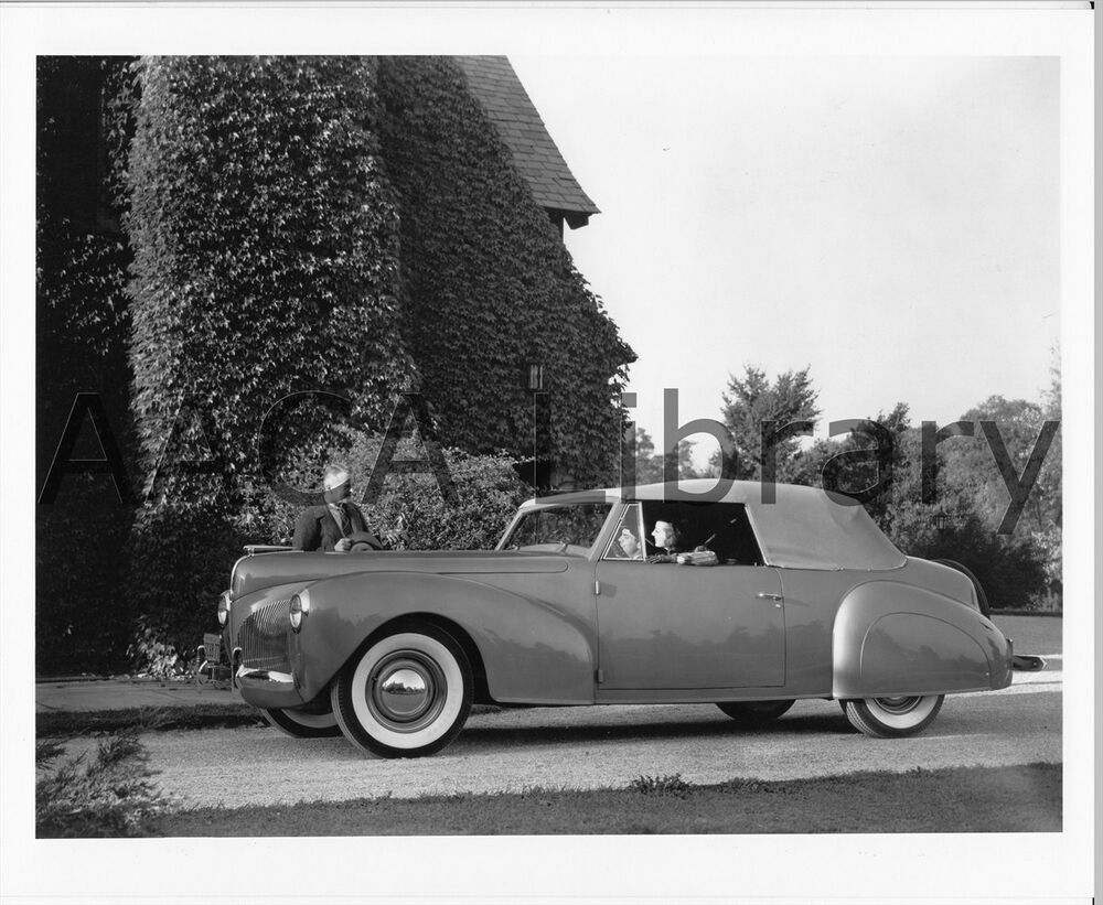 1940 lincoln continental convertible coupe factory photo ref 53287 ebay. Black Bedroom Furniture Sets. Home Design Ideas
