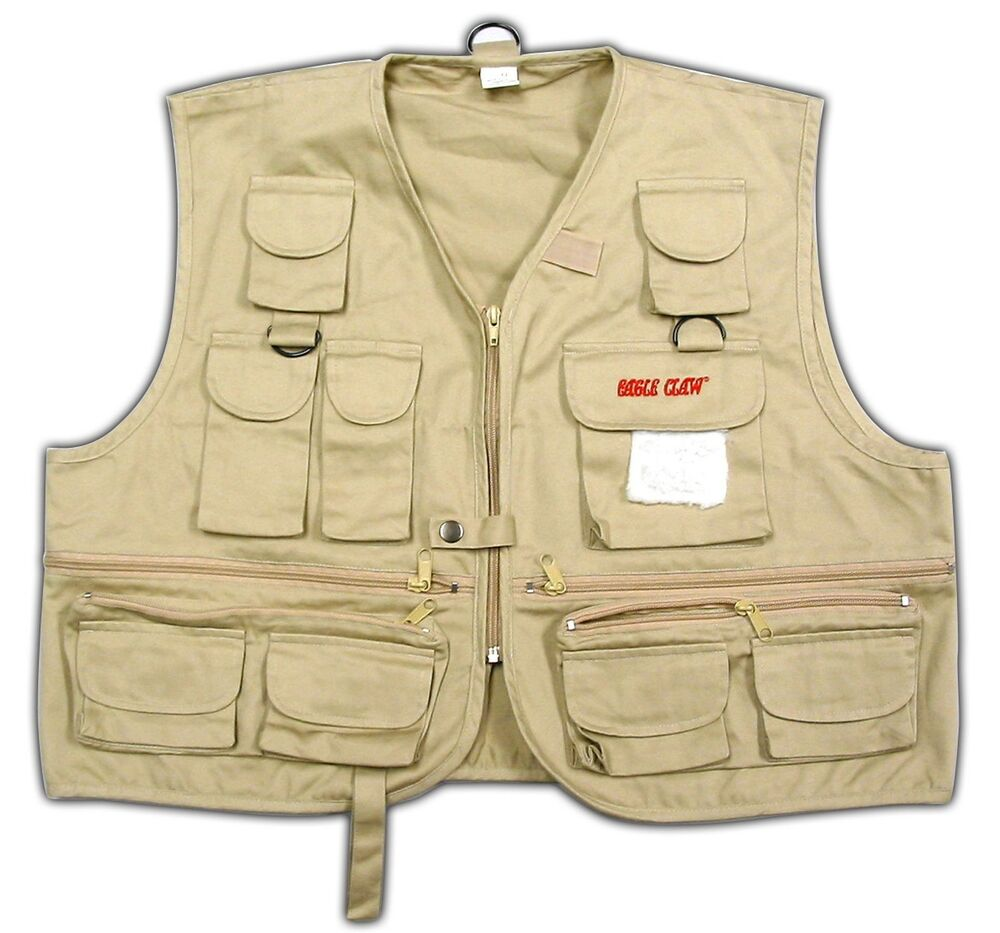 Eagle claw fly fishing vest adult sizes ebay for Walmart fishing shirts