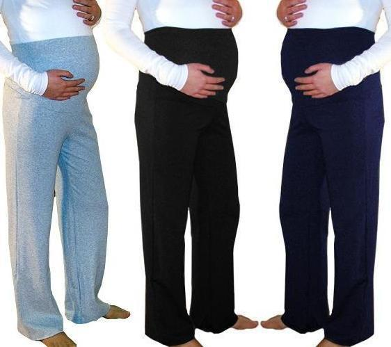 Maternity Pregnancy Pants Casual Trousers Yoga Over Bump