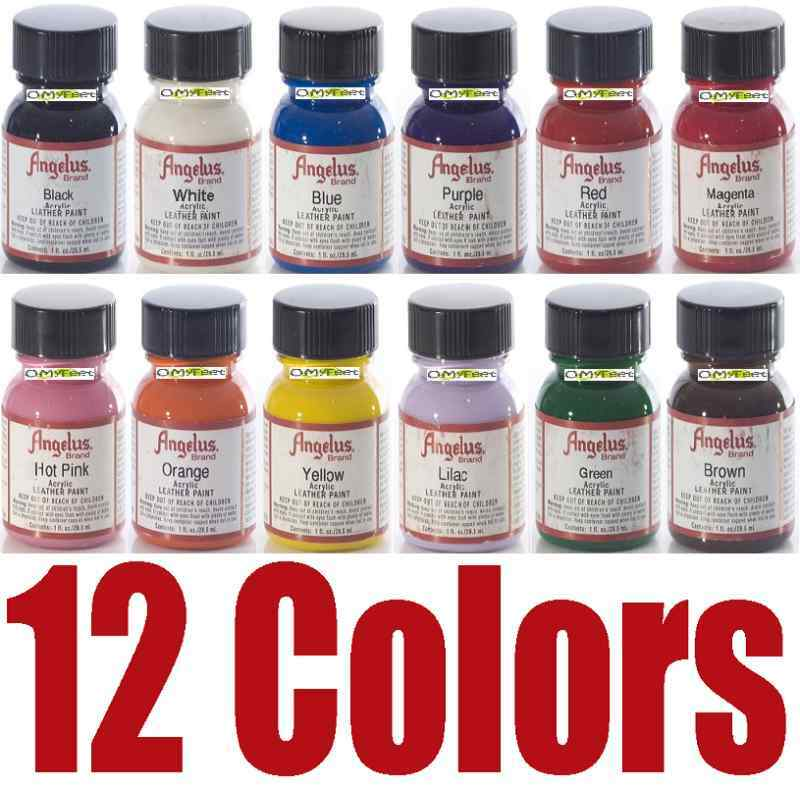 12 angelus acrylic paint dye leather vinyl sneakers boots