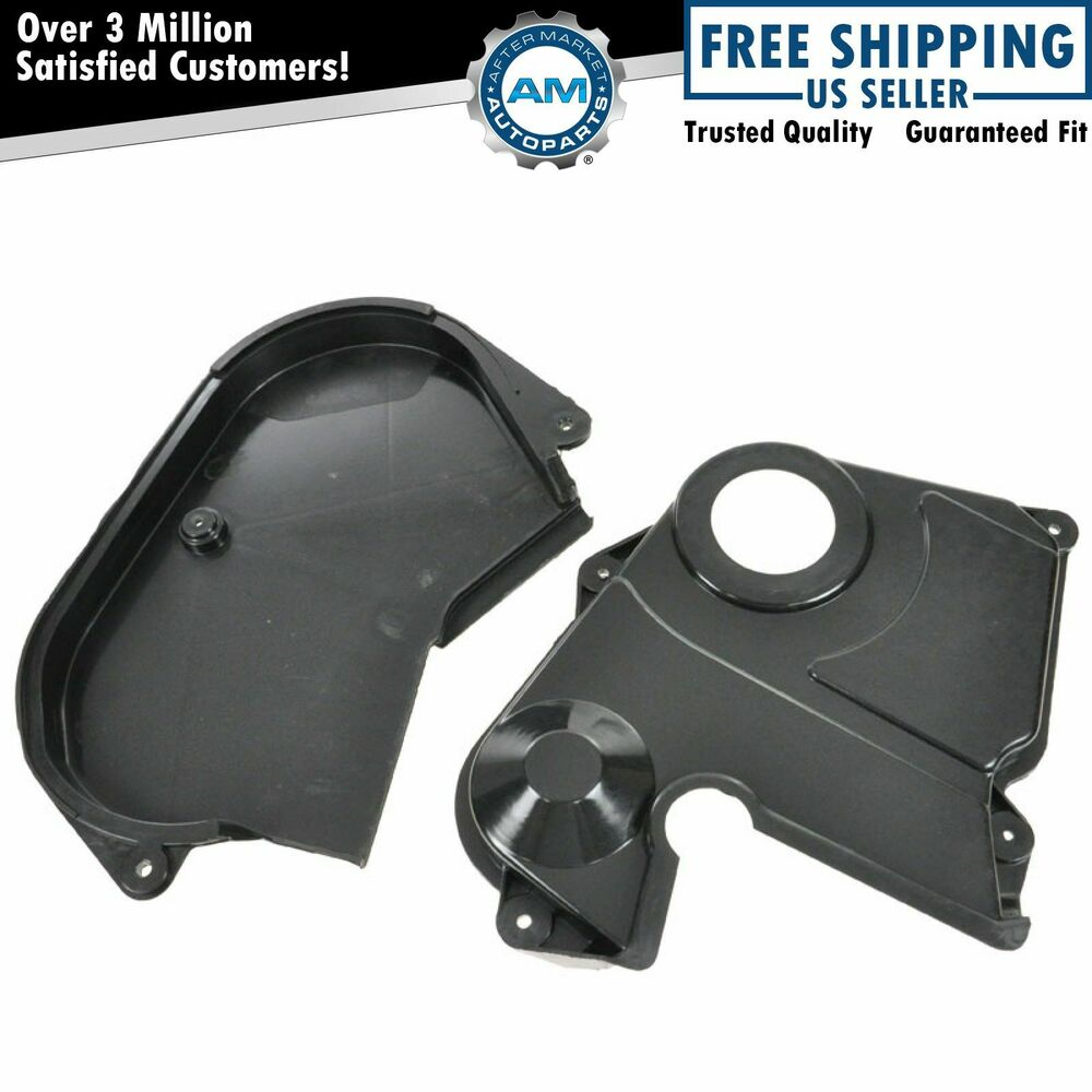 Dodge Timing Belt : Upper lower timing belt cover set kit pair for