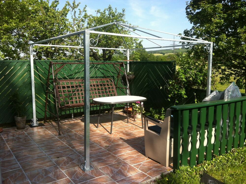 pavillon gestell stahl feuerverzinkt partyzelt pergola garten zelt unterstand ebay. Black Bedroom Furniture Sets. Home Design Ideas