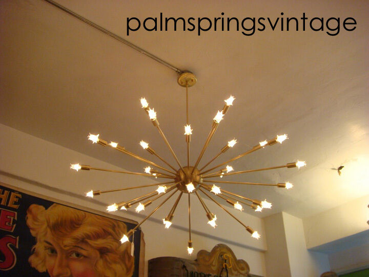 Satin Brushed Brass Sputnik Starburst Light Fixture