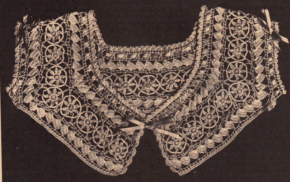 Free Vintage Crochet Yoke Patterns : BEAUTIFUL Vintage 1916 Yoke Pattern/Apparel/Crochet ...