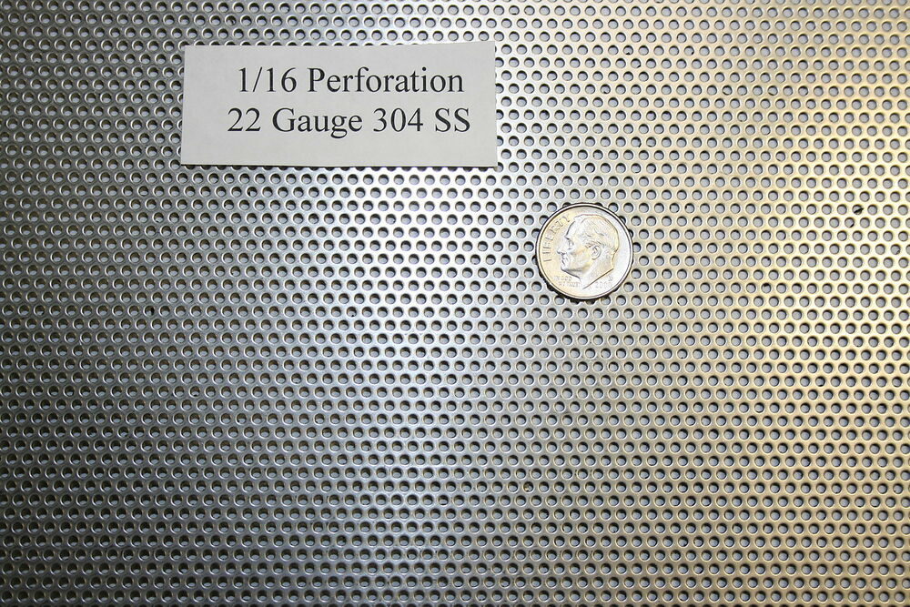 Perforated 304 Stainless Steel 1 16 Inch Hole 22 Gauge