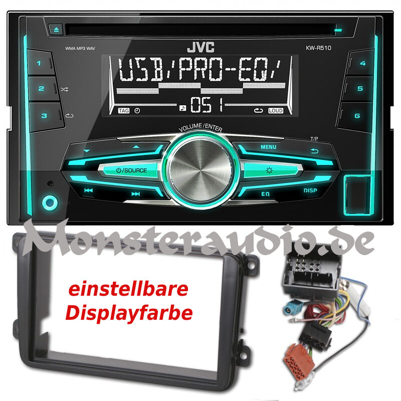 jvc autoradio doppel din usb mp3 radio f r vw golf 5 6 v. Black Bedroom Furniture Sets. Home Design Ideas
