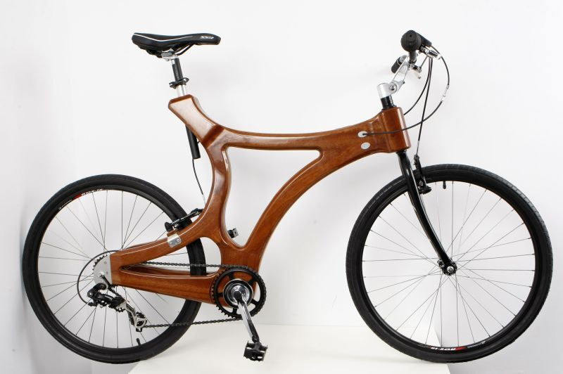 a unique hand made wooden bike mahogany bicycle fahrrad aus holz mahagony ebay. Black Bedroom Furniture Sets. Home Design Ideas