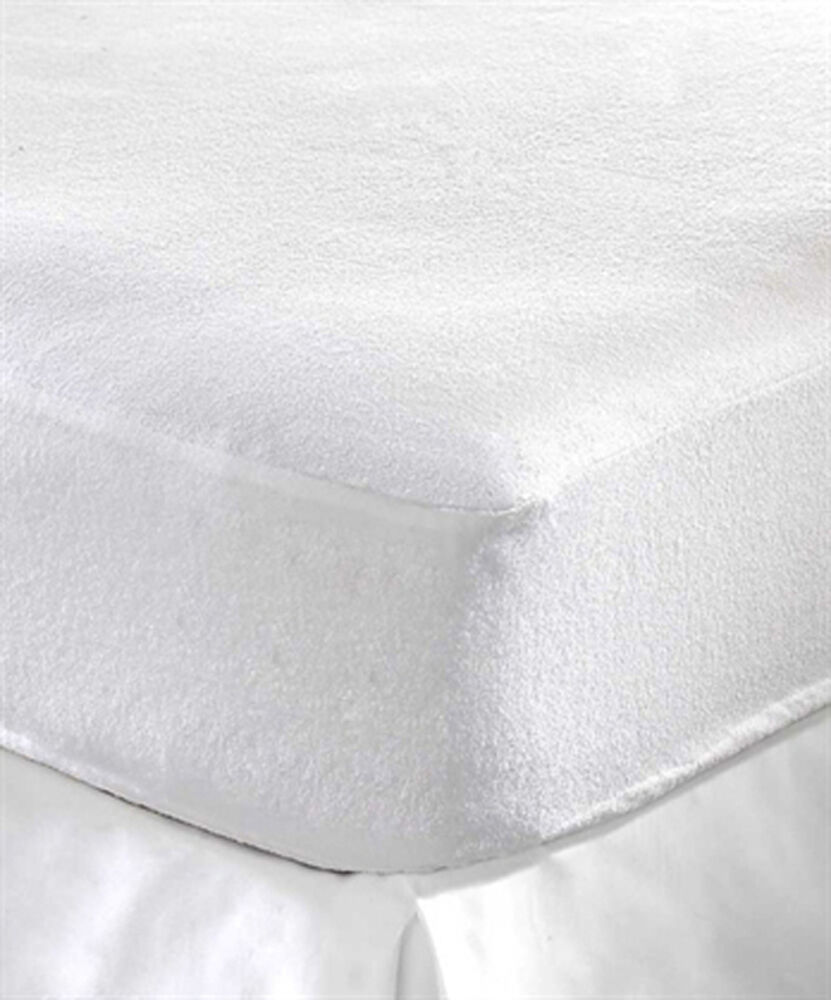 Terry Towel Waterproof Fitted Sheet Mattress Protector Luxury Bed Pillow Cover Ebay
