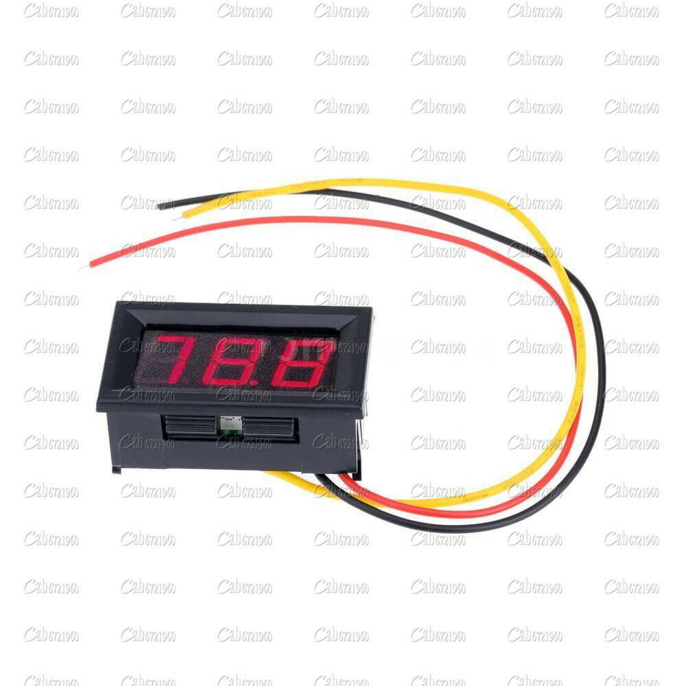 Small Digital Voltmeters Dc : New red led panel meter mini digital voltmeter dc v to