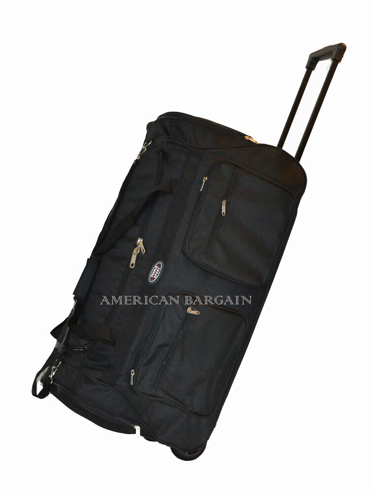 New 36 Quot Polyester Jumbo Durable Rolling Wheeled Duffel