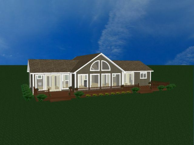 Chalet home house kit prefab house 3 bedrooms 2 bath for Vacation cabin kits