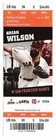 Matt Cain Perfect Game No Hitter 6/13/12 Unused Season Ticket MINT Giants Orange