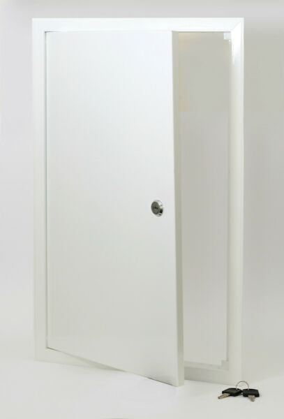 Access Panel 300x400 Metal With Lock,White Inspection Panel Inspection Hatch