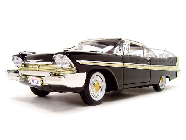 1958 plymouth fury black 1 18 diecast model car by. Black Bedroom Furniture Sets. Home Design Ideas