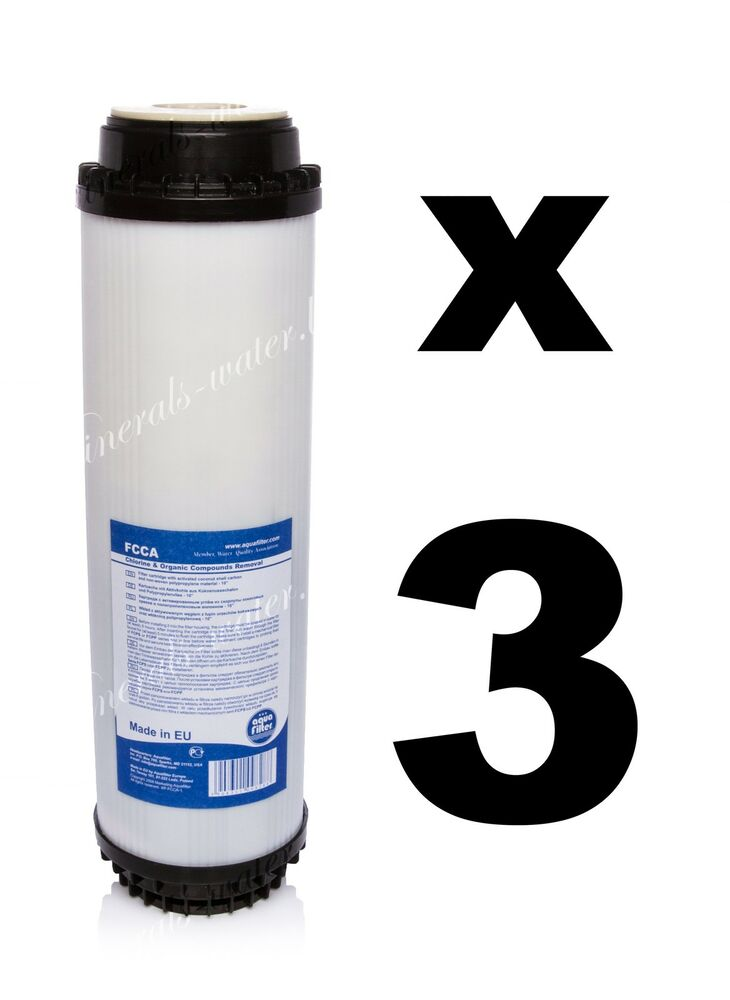 3 x activated carbon filter 10 water filter reverse osmosis ro fcca ebay. Black Bedroom Furniture Sets. Home Design Ideas