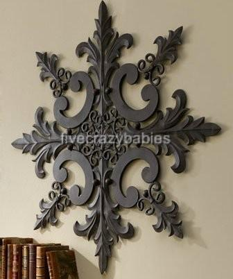 Large Horchow Outdoor Ornate Wall Medallion Art Decor Plaque Patio Garden Metal Ebay