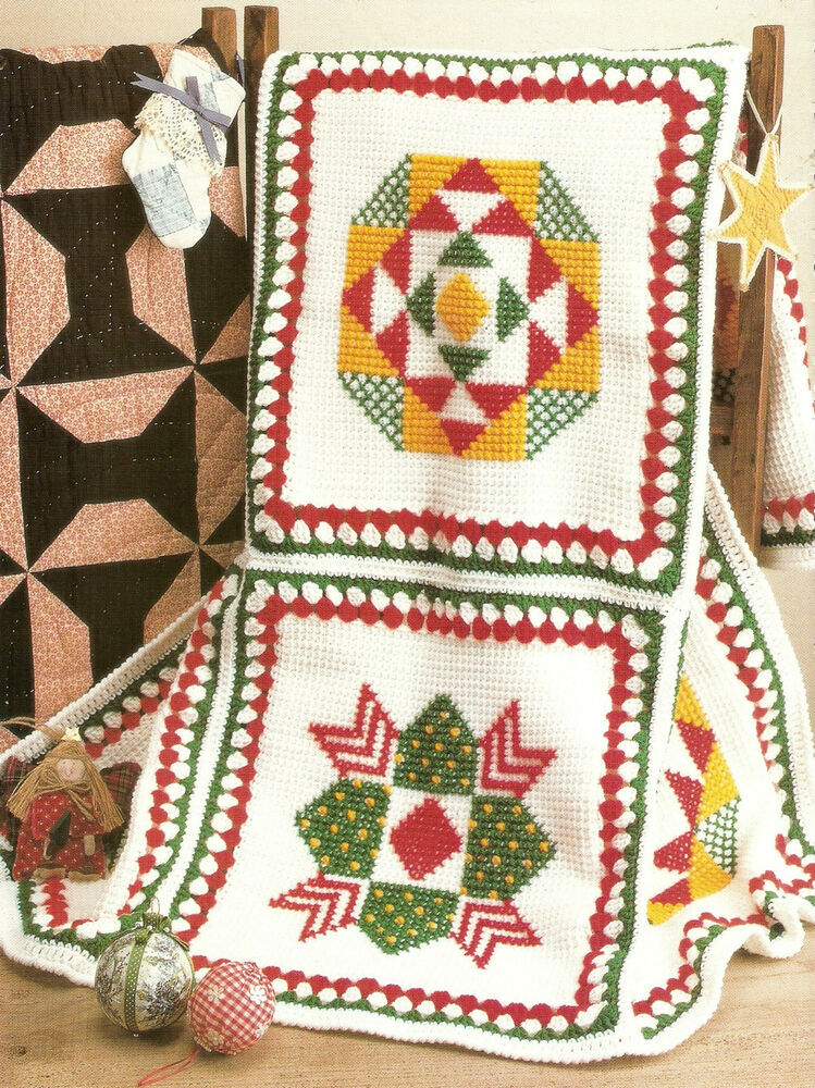 Crochet Afghan Patterns Christmas : CHRISTMAS Patchwork Afghan/Crochet Pattern INSTRUCTIONS ...