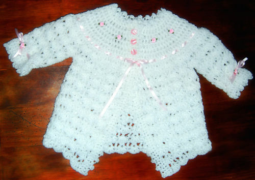 Pretty Baby Girl Matinee Coat Crochet Pattern Lovely Ebay