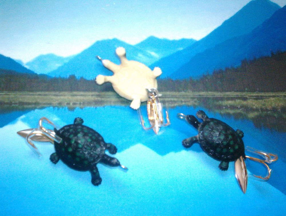 Crafted in usa great baby turtle 2 3 4 inch killer bass for Turtle fish games