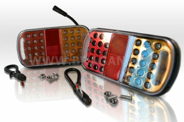 Led Lights For Tractor Trailers : Pair led rear trailer tail lights lamps tractor truck