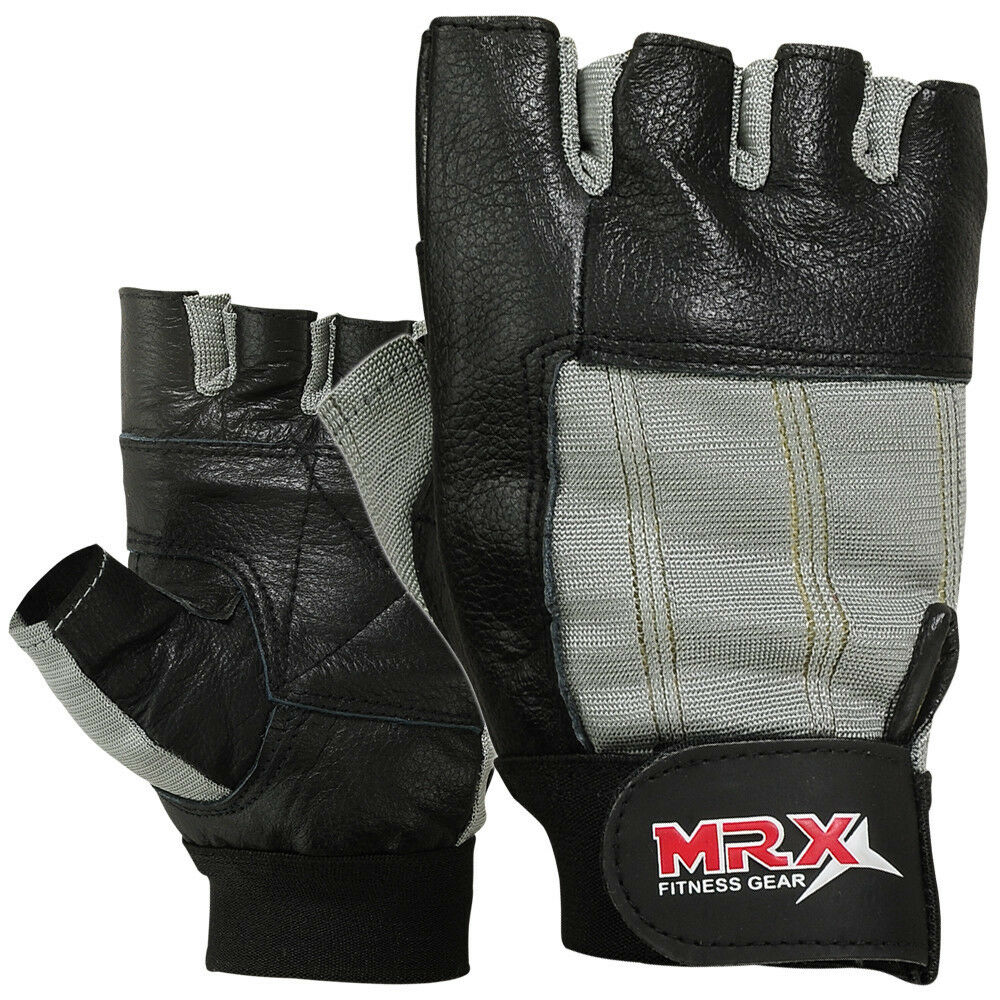 Weight Lifting Gloves Leather Fitness Gym Training Workout: Weight Lifting Gloves Training GYM Glove Power Leather