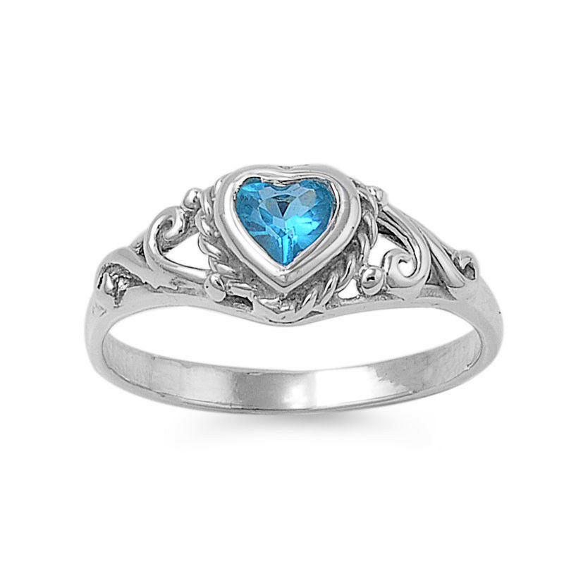 925 sterling silver shaped blue topaz cz promise