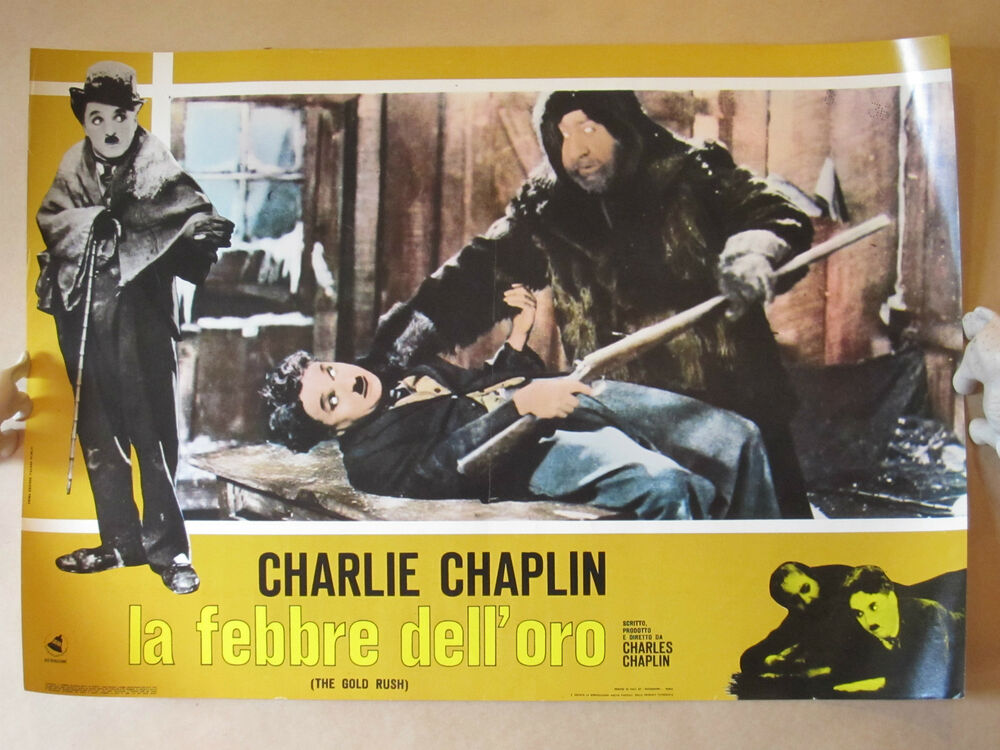 VINTAGE 1953 CHARLIE CHAPLIN GOLD RUSH ITALIAN FILM MOVIE ...