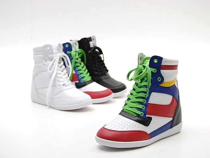 high top sneakers heels tennis shoes boots