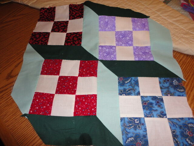 How To Use Plastic Quilting Templates : Plastic Quilt Templates - 3-D Ninepatch quilt eBay
