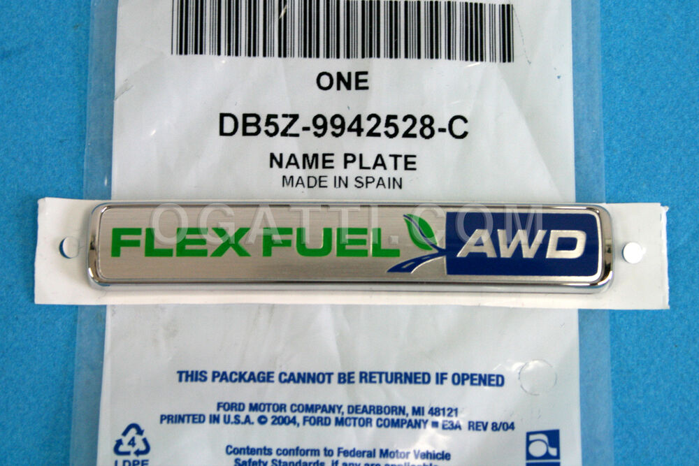 brand new oem ford explorer flex fuel awd emblem 2012 2013 db5z 9942528 c ebay. Black Bedroom Furniture Sets. Home Design Ideas