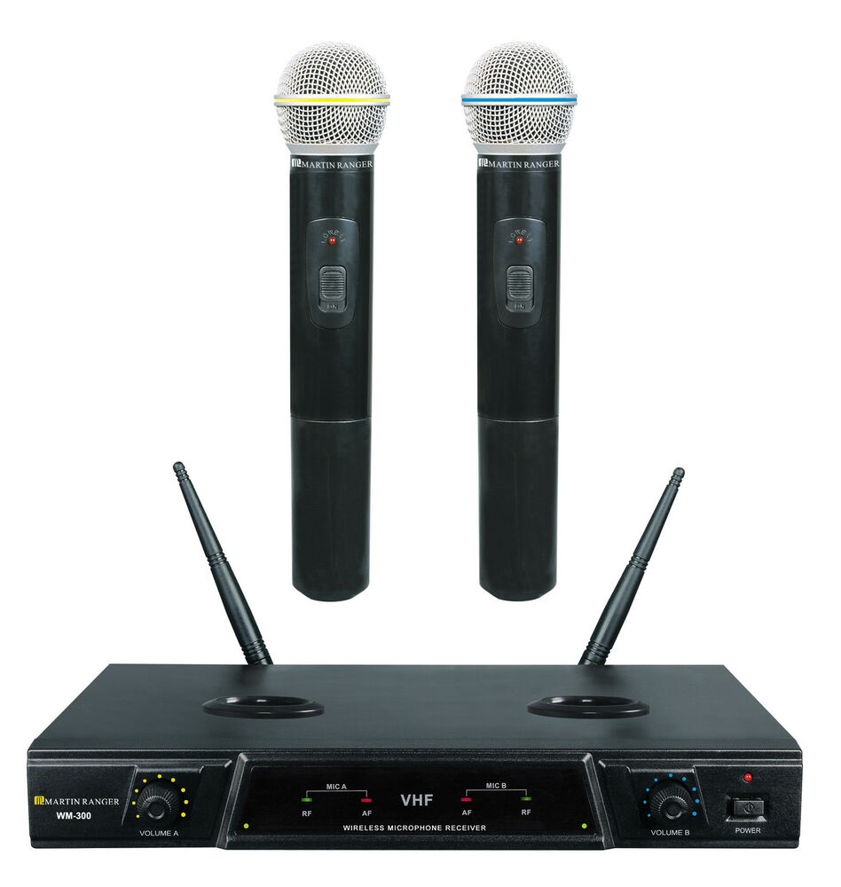 new martin ranger wm300 rechargeable wireless microphone mic system ebay. Black Bedroom Furniture Sets. Home Design Ideas