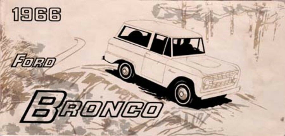 ford bronco owners manual user guide reference